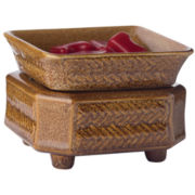 Wicker Candle Warmer and Dish