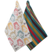 Hoo Hoo Set of 2 Dish Towels