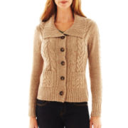 St. John's Bay® Cable Cardigan