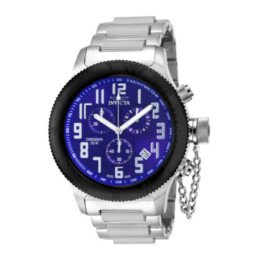jcpenney.com | Invicta® Russian Diver Mens Blue Dial Stainless Steel Chronograph Sport Watch 15560