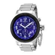 Invicta® Russian Diver Mens Blue Dial Stainless Steel Chronograph Sport Watch