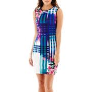 Bisou Bisou® Sleeveless Floral Print Sheath Dress