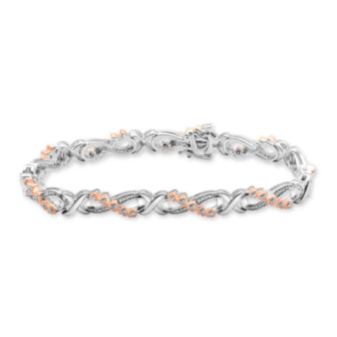 jcpenney.com | Falling For You 1/10 CT. T.W. Diamond Two-Tone Heart Bracelet