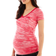 Maternity V-Neck Pocket Tee - Plus