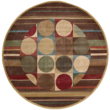 jcpenney.com | Nourison® Checkers Round Rug - 5'6""