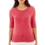 Worthington® Elbow-Sleeve Boatneck Sweater