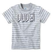 Okie Dokie® Short-Sleeve Striped Knit Tee – Boys newborn-24m
