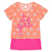 Total Girl® Keyhole Crop Top - Girls 7-16 and Plus
