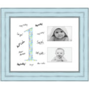 "1 Year Signature Mat 2-Opening 4x6"" Collage Picture Frame"