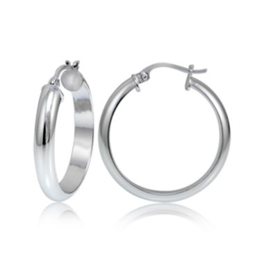 jcpenney.com | Sterling Silver Half Round 25MM Hoop Earrings