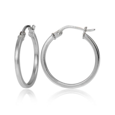 jcpenney.com | Sterling Silver Square Tube 20mm Hoop Earrings