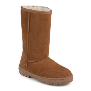 jcpenney.com | Journee Collection Shear Wool-Lined Suede Boots