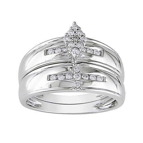 LIMITED QUANTITIES 1/4 CT. T.W. Diamond 10K White Gold Ring Set