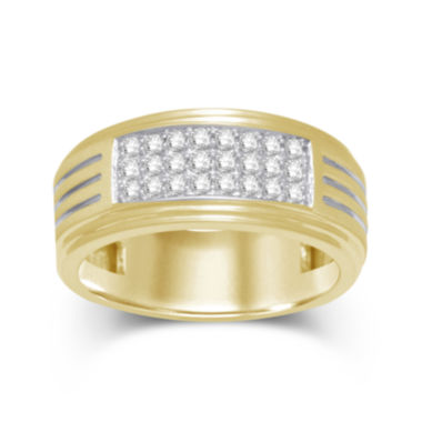 jcpenney.com | LIMITED QUANTITIES Mens 1/2 CT. T.W. Diamond 10K Yellow Gold Ring