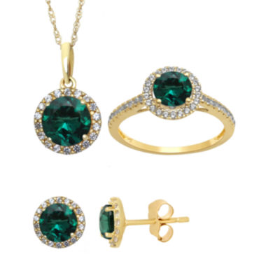 jcpenney.com | Lab Created Emerald And White Sapphire Earrings, Pendant Or Ring