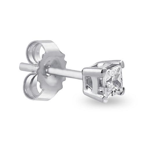 Mens 1/4 CT. Diamond 14K White Gold Stud Earring
