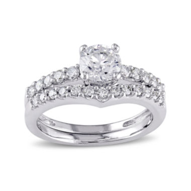 jcpenney.com | 7/8 CT. T.W. Diamond 14K White Gold Bridal Ring Set