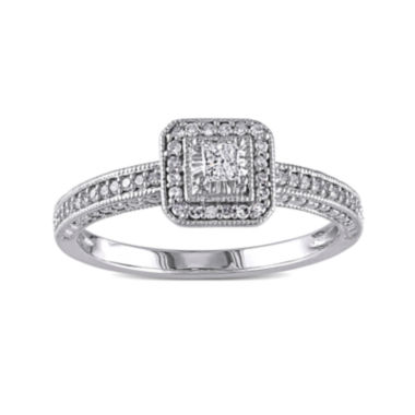 jcpenney.com | 1/4 CT. T.W. Diamond 10K White Gold Ring