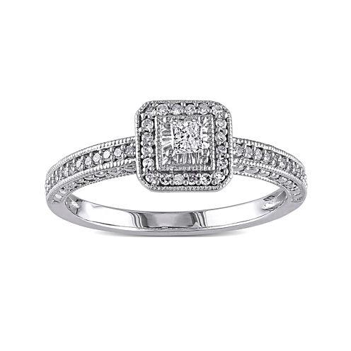 1/4 CT. T.W. Diamond 10K White Gold Ring