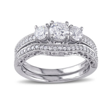 jcpenney.com | 1 1/8 CT. T.W. Diamond 14K White Gold Ring Set
