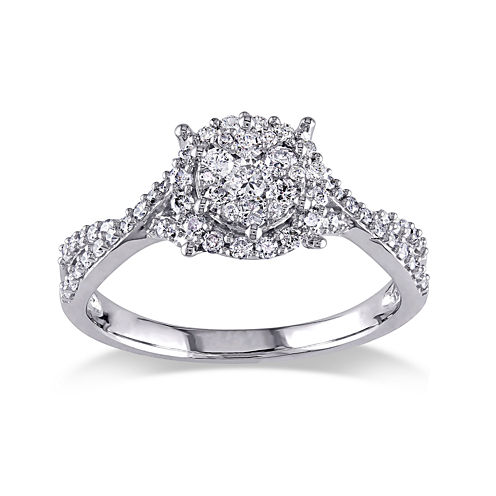 1/2 CT. T.W. Diamond 10K White Gold Ring