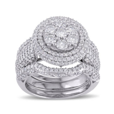 jcpenney.com | 2 1/2 CT. T.W. Diamond 10K White Gold Ring Set
