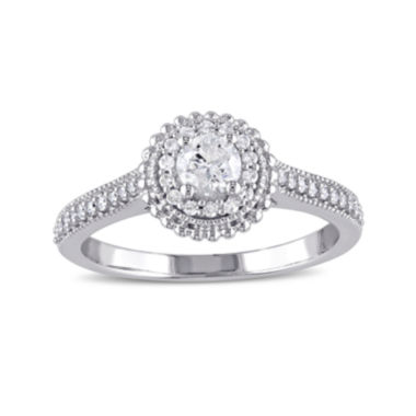 jcpenney.com | 1/2 CT. T.W Diamond 10K White Gold Ring