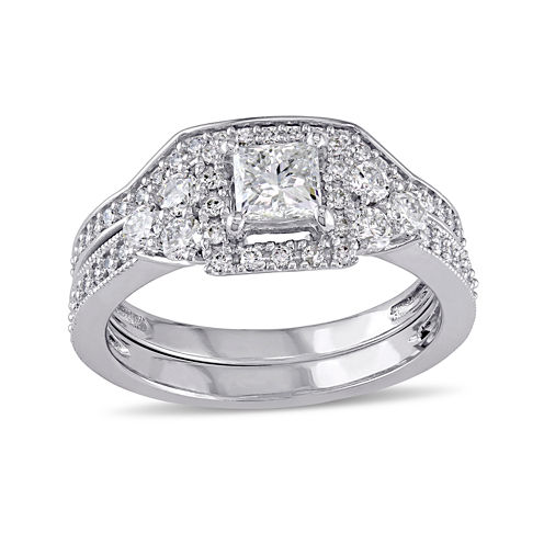 1 1/4 CT. T.W. Diamond 14K White Gold Ring Set