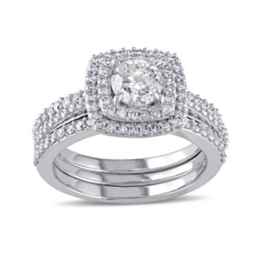 jcpenney.com | 1 1/2 CT. T.W. Diamond 10K White Gold Ring Set