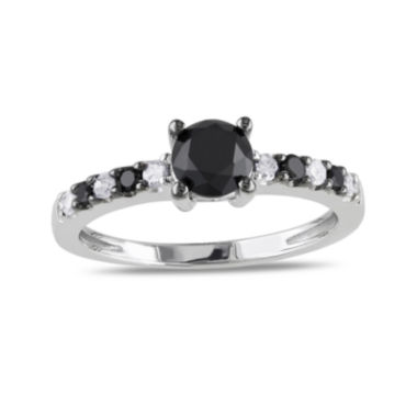 jcpenney.com | Midnight Black Diamond 1 CT. T.W. White and Color-Enhanced Black Diamond Sterling Silver Engagement Ring