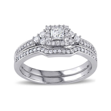 jcpenney.com | 5/8 CT. T.W. Diamond 14K White Gold Ring Set