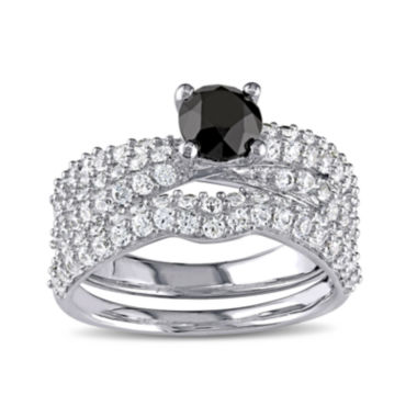 jcpenney.com | Midnight Black Diamond 1 CT. T.W. Color-Enhanced Black Diamond and Lab-Created White Sapphire Ring