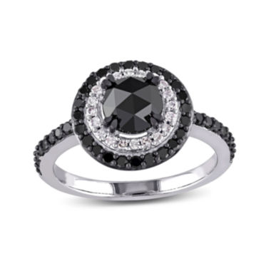 jcpenney.com | Midnight Black Diamond 1 1/2 CT. T.W. White and Color-Enhanced Black Diamond 10K White Gold Engagement Ring
