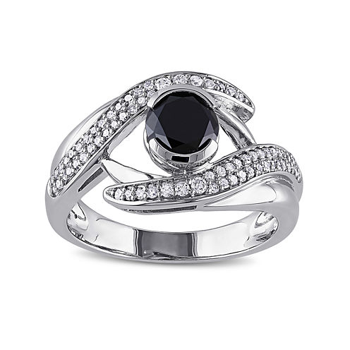 Midnight Black Diamond 1 1/4 CT. T.W. White and Color-Enhanced Black Diamond 10K White Gold Ring