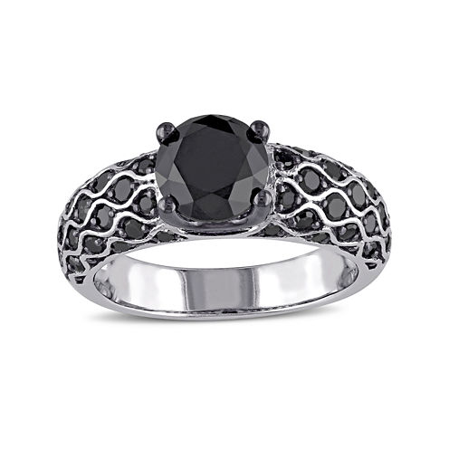 Midnight Black Diamond 2 5/8 CT. T.W. Color-Enhanced Black Diamond Ring
