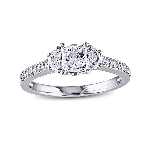 1CT. T.W. Diamond 14K White Gold Engagement Ring