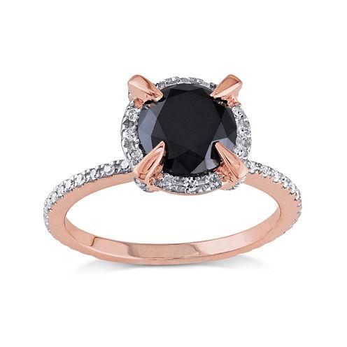 Midnight Black Diamond 2 CT. T.W. White and Black Diamond 10K Rose Gold Ring