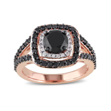 jcpenney.com | Midnight Black Diamond 2 CT. T.W. White and Color-Enhanced Black Diamond 14K Rose Gold Ring