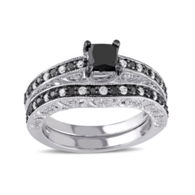 jcpenney.com | 1¼  CT. T.W. White and Color-Enhanced Diamond Sterling Silver Ring Set