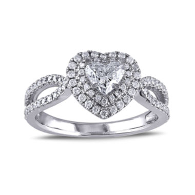 jcpenney.com | 1 CT. T.W. Diamond 14K White Gold Openwork Heart Ring