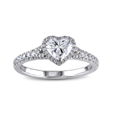 jcpenney.com | 1 CT. T.W. Diamond 14K White Gold Heart Ring