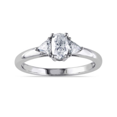 jcpenney.com | 3/4 CT. T.W. Diamond 14K White Gold Oval Ring