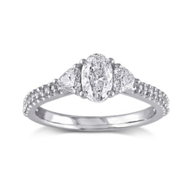 jcpenney.com | 1 1/10 CT. T.W. Diamond 14K White Gold Engagement Ring
