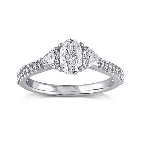 1 1/10 CT. T.W. Diamond 14K White Gold Engagement Ring