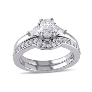 jcpenney.com | 1 CT. T.W. Diamond 14K White Gold Ring Set