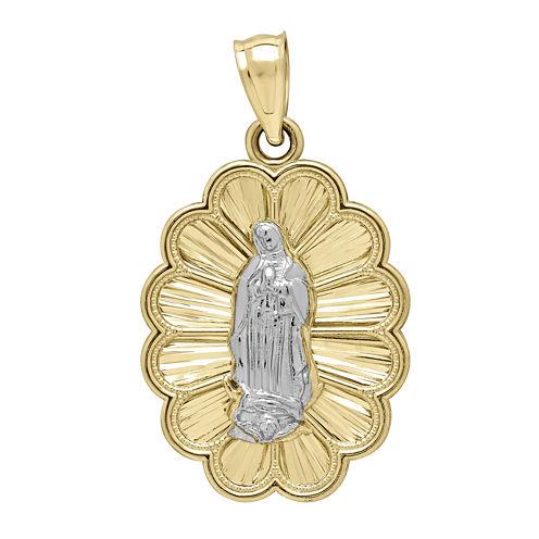 Tesoro™ 14K Two-Tone Gold Lady of Guadalupe Medallion Pendant