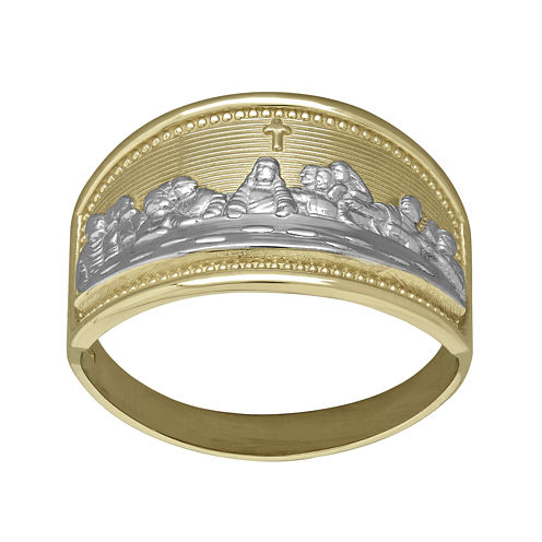 Tesoro™ 14K Two-Tone Gold Last Supper Ring