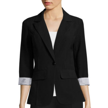 jcpenney.com | by&by 3/4- Sleeve Boyfriend Jacket