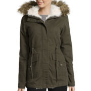 Marilyn & Me Twill Faux-Sherpa-Lined Anorak
