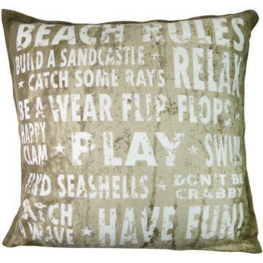 jcpenney.com | Park B. Smith® Beach Rules Decorative Pillow